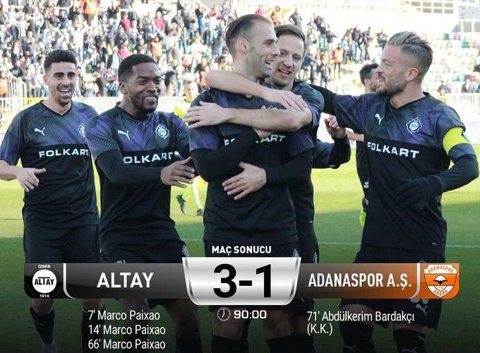 Altay Spor zorlanmadı