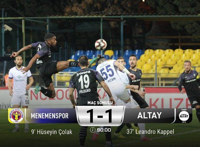 Menemenspor 1 - 1 Altayspor